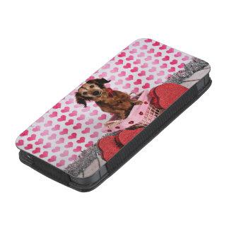 Valentine's Day - Oakley - Dachshund iPhone SE/5/5s/5c Pouch