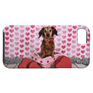 Valentine's Day - Oakley - Dachshund iPhone SE/5/5s Case