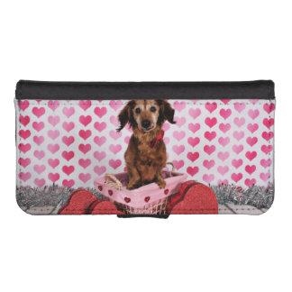 Valentine's Day - Oakley - Dachshund iPhone SE/5/5s Wallet Case