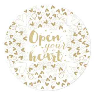 "Valentine's Day - ""Open Your Heart"" Gold Card"