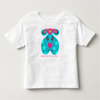 Valentine's Day or Easter Blue Bunny T Shirt