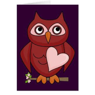 Valentine's Day - Owl Love Card