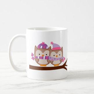 Valentines Day Owls Coffee Mug