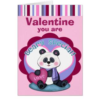 Valentine's Day Panda Bear Greeting Card