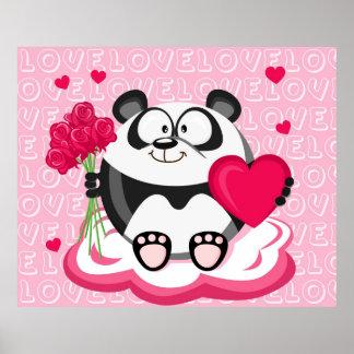 Valentine's Day Panda Poster