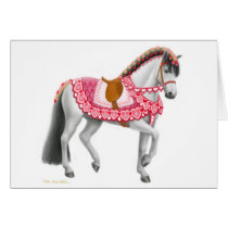 Valentines Day Parade Horse Greeting Card