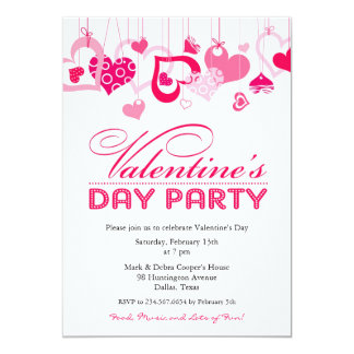 Valentines Day Party Invitations Announcements Zazzle