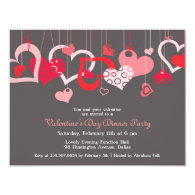 Valentine's Day Party Invitation Flat Card