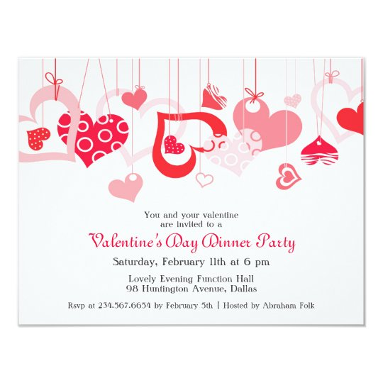 Valentine S Day Party Invitation Flat Card Zazzle Com