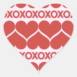 Valentine's Day Pattern Heart Sticker