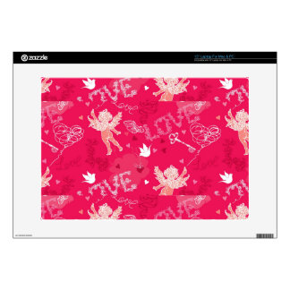 Valentine's Day  Pattern With Cupid Decals For Laptops