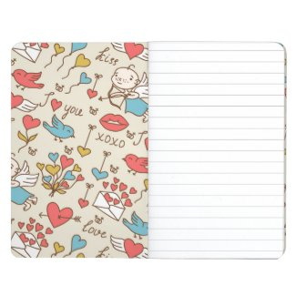 Valentine's Day Pattern with Cupid Journal