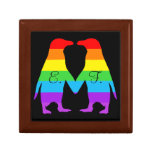 Valentines day penguins - add your initials jewelry box