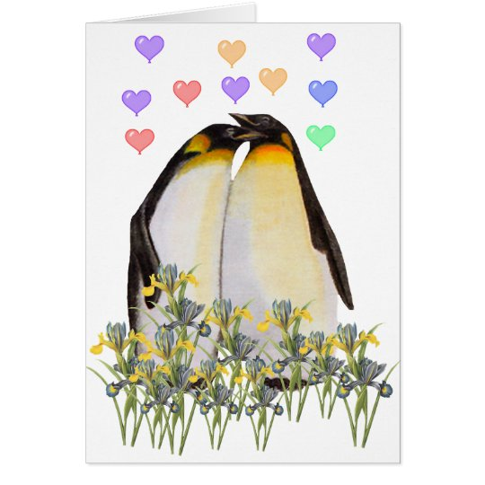 Valentine's Day Penguins Card