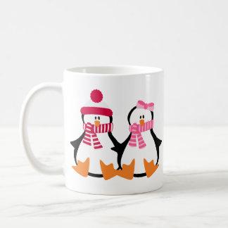 Valentines Day Penguins Coffee Mug