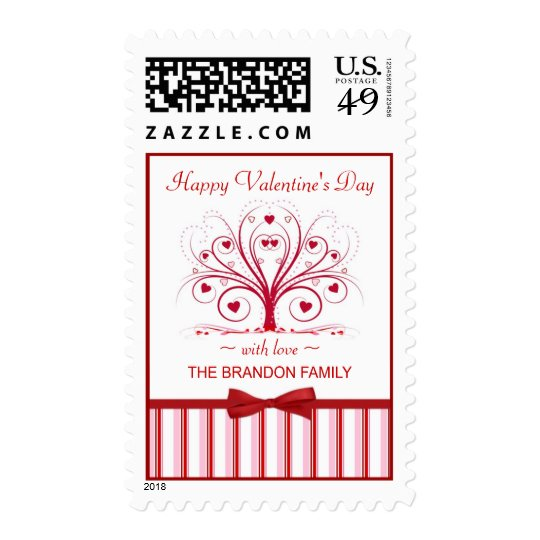 Valentine's Day Personalized Postage Stamps
