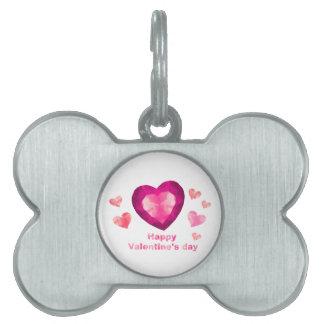 Valentine's day Pet Tag