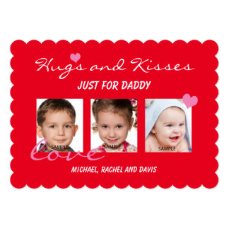 Valentine's Day Photo Card for Daddy Hugs