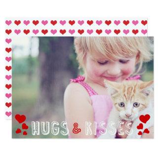 Valentine's Day Photo Cute XO Hearts Classroom Card