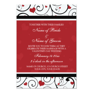 Valentines Day Wedding Invitations Zazzle