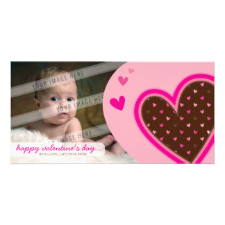 VALENTINE'S DAY PHOTOCARD :: funky hearts 12L Photo Card