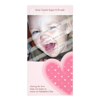 VALENTINE'S DAY PHOTOCARD :: funky hearts 5P Card
