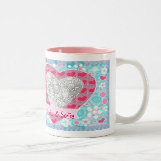 Valentine's Day Pink & Blue Photo Love Mug
