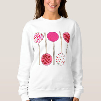 Valentine's Day Pink Cake Pop Pops Bakery Sweet Sweatshirt