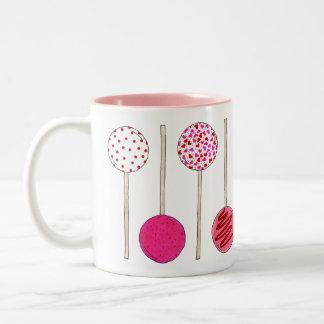 Valentine's Day Pink Heart Cake Pop Pops Mug