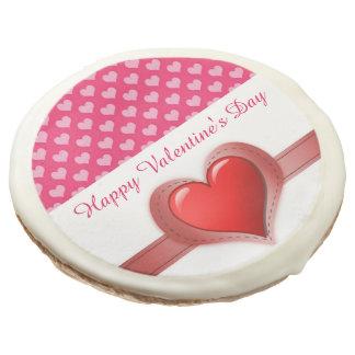 Valentine's Day Pink Heart Pattern Sugar Cookies