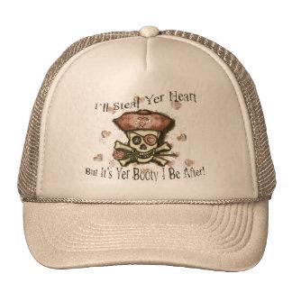 Valentine's Day Pirate Sepia Tone Hat