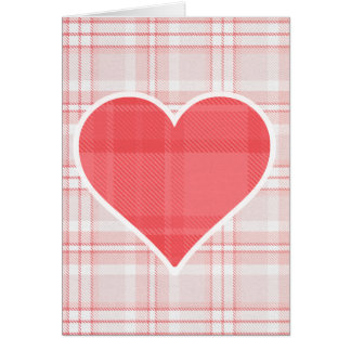 Valentine's Day Plaid Heart Greeting Card