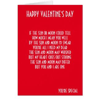 VALENTINE'S DAY POEM CARD