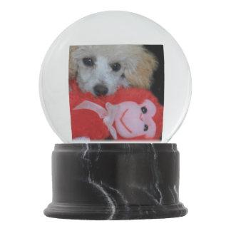 Valentine's Day Poodle  Dog Snow Globe
