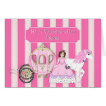 VALENTINE'S DAY - PRINCESS WITH CARRIAGE CARD