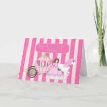 VALENTINE'S DAY - PRINCESS WITH CARRIAGE HOLIDAY CARD