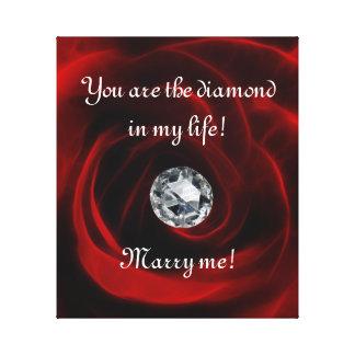 Valentines day proposal canvas print