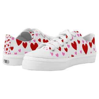 Valentine's Day Pugs Printed Shoes