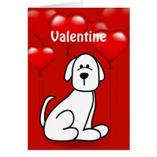 Valentine's Day Puppy Dog Wuf You Greeting Card