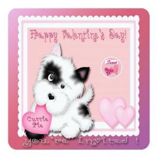 Valentine's Day Puppy Valentine's Party Invitation