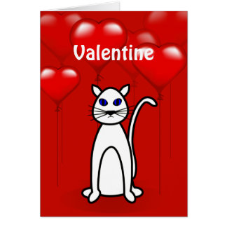 Valentine's Day Purfect Cat Greeting Card