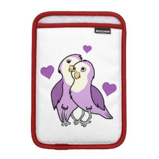 Valentine's Day Purple Love Birds with Hearts Sleeve For iPad Mini