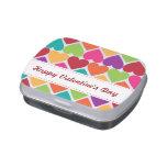 Valentine's Day Rainbow Hearts Candy Tin