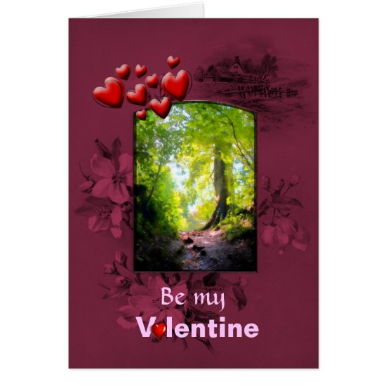 Valentines Day, Reaching The Leafy Glade Card