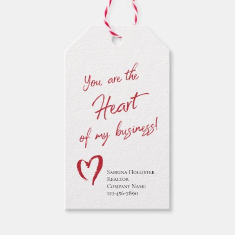 Valentine's Day Realtor Marketing Gift Tags