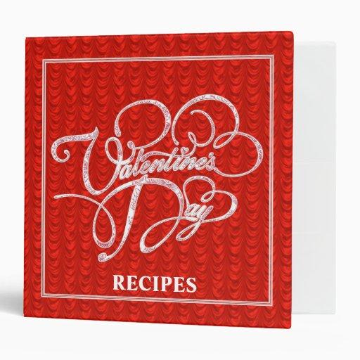 Valentines Day Recipes Vinyl Binder
