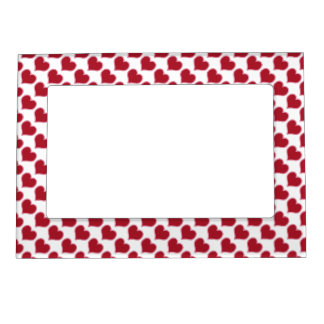 Valentine's Day Red And White Heart Pattern Love Magnetic Photo Frame