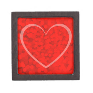 Valentines Day Red Bubbles Heart Gift Box