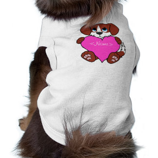 Valentine's Day Red Dog with Blaze & Pink Heart Shirt