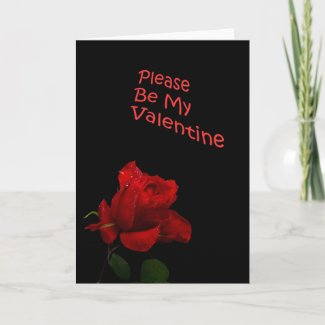 Valentine's Day Red Rose Greeting Card